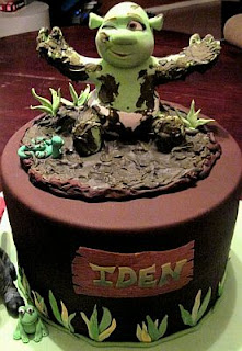 Shrek cakes for children parties