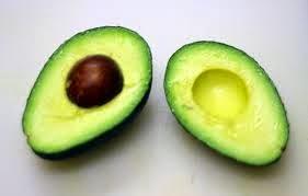 half cut avocado