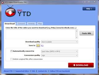 ดาวน์โหลดโปรแกรมฟรี Youtube Downloader Pro 3.9.4