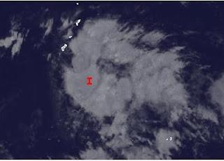 Taifunsaison 2012: System 94-W (potentiell Tropischer Sturm SANVU) bei Guam und Saipan, Marianen, Sanvu, Pazifik, Taifunsaison 2012, Taifunsaison, aktuell, Mai, 2012, Satellitenbild Satellitenbilder