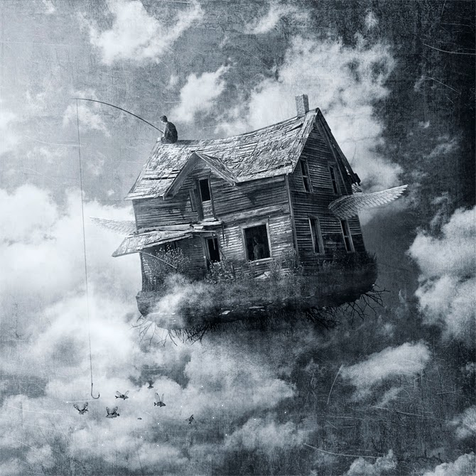 08-Between-Clouds-Manuel-Rodriguez-Sanchez-Surreal-Imaginarium-Land-of-Dreams-www-designstack-co