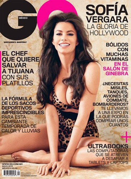 Sofia Vergara on the cover of GQ Magazine May 2012 Mexico Issue