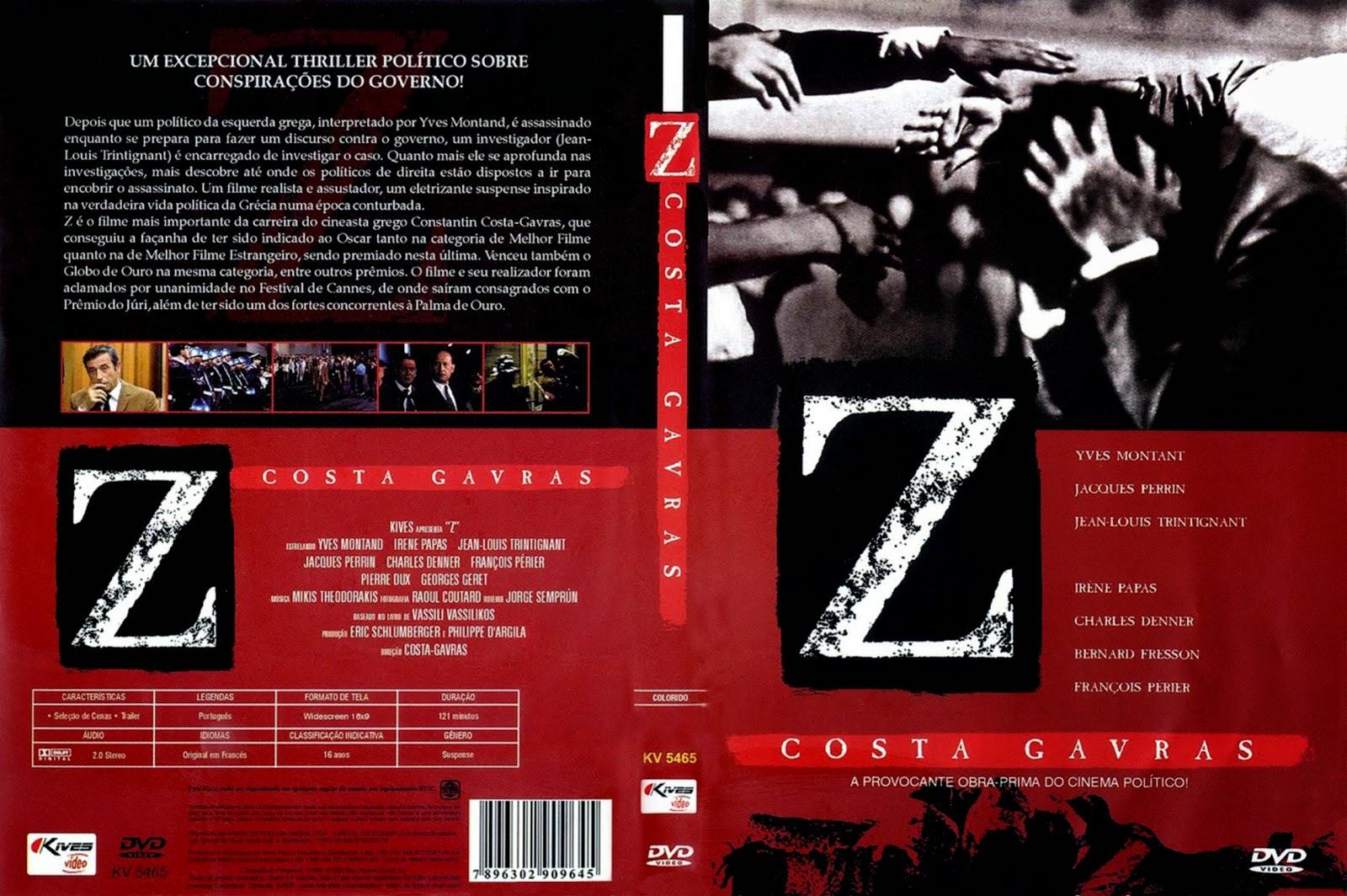 Capa DVD Z Costa Gavras