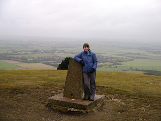 Anne at Ivinghoe Beacon, the eastern end of the Ridgeway