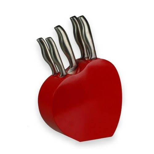 Utensilios de cocina juego de 5 cuchillos y un coraz n - Juego de cuchillos de cocina ...