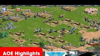 AOE Highlights, Hồng Anh(Hittite) một mình cân cả thế giới, game đấu thần thánh để đời