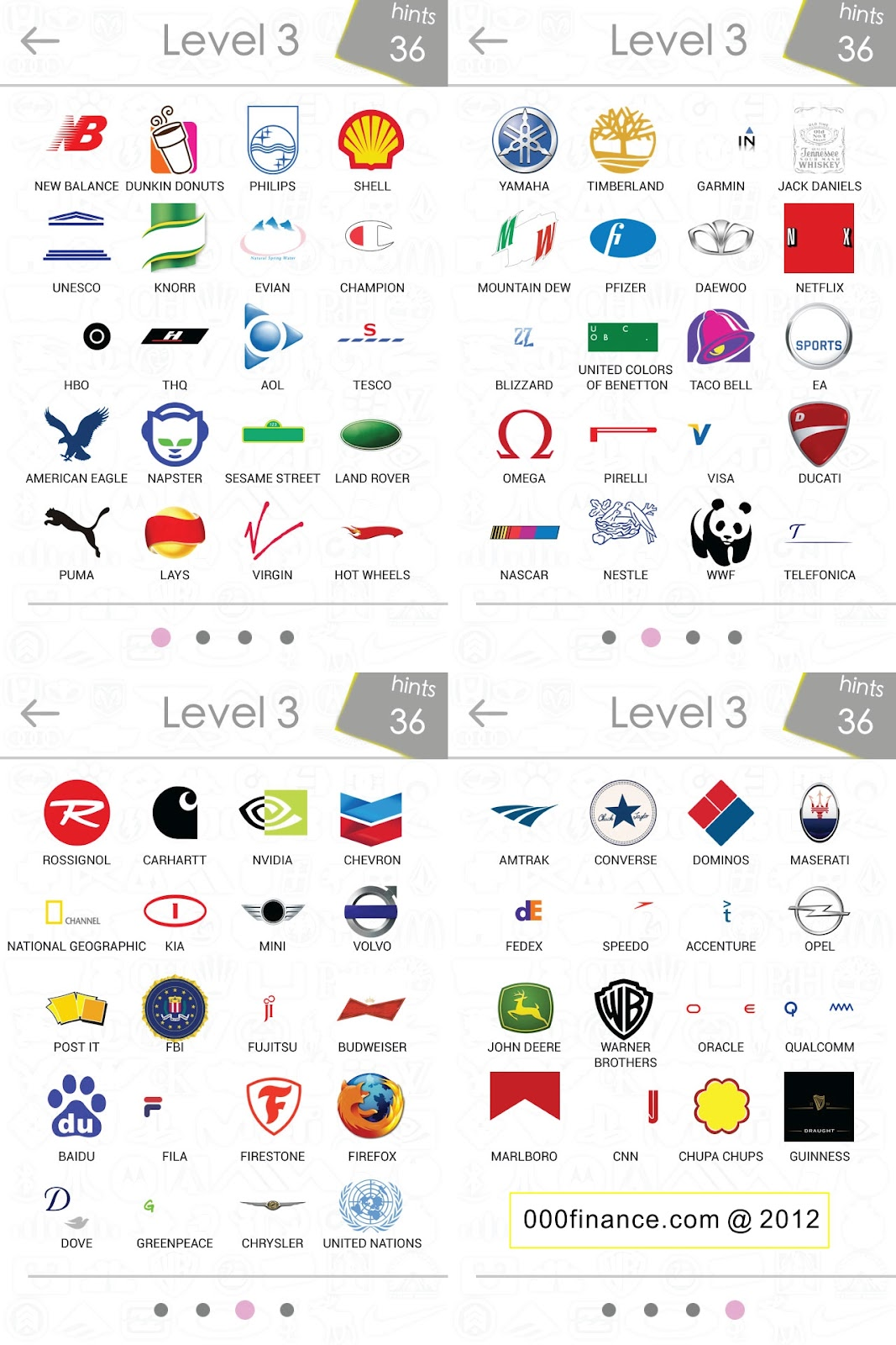 Logos Quiz Answer Level 3 | Logos Quiz Answers for iPhone ...