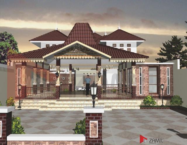 Model Teras Rumah Joglo Modern Terbaru
