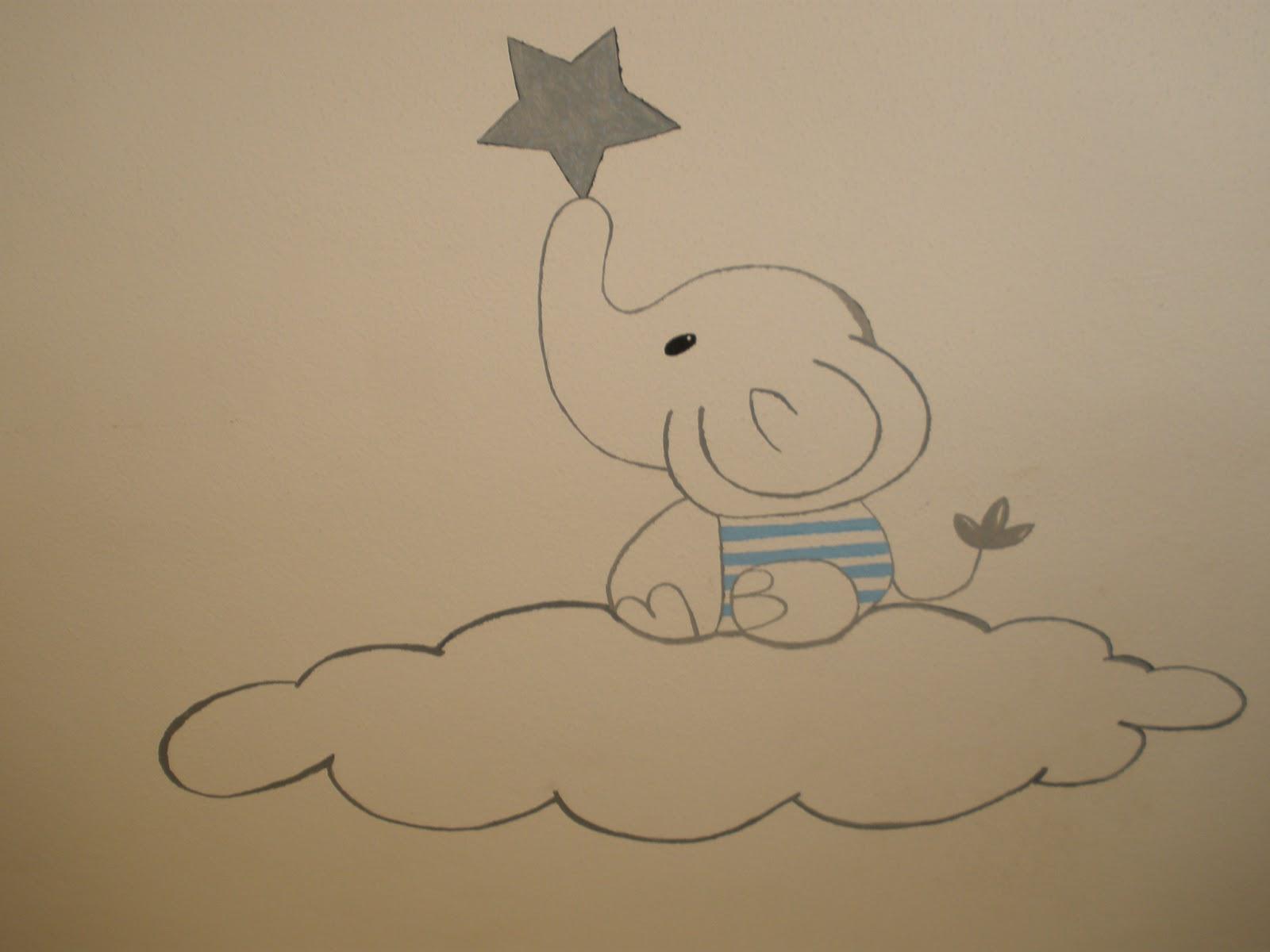 Di mam mural para habitaci n de un beb for Dormitorio para dibujar facil