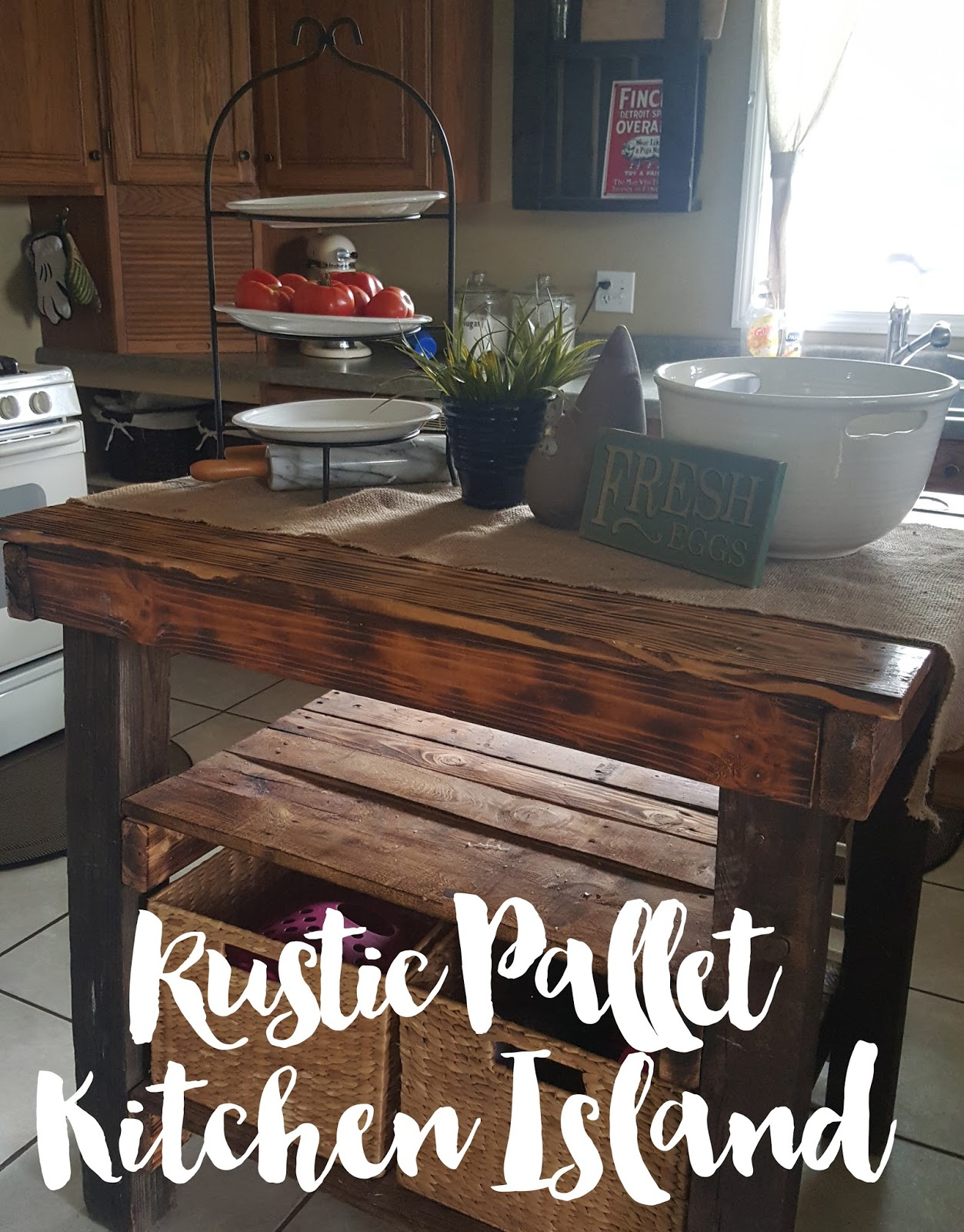 Pallet Kitchen Island At Home And Interior Design Ideas # Diy Pallete Cuisine