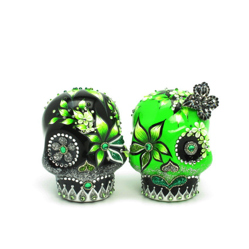 day of the dead wedding cake topper mexican skull 00024