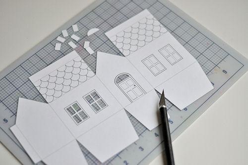 Домики из бумаги своими руками схемы фото 81