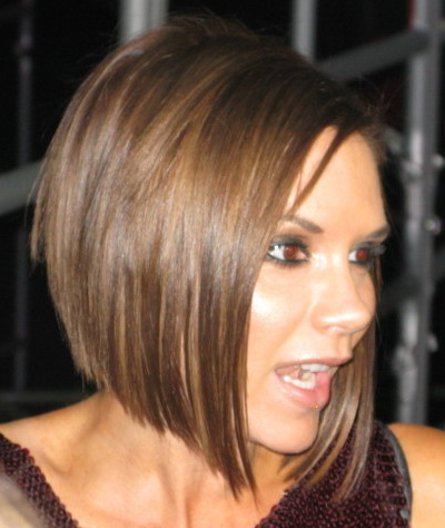 Celebrity Hairstyle Victoria Beckham Layered Haircuts