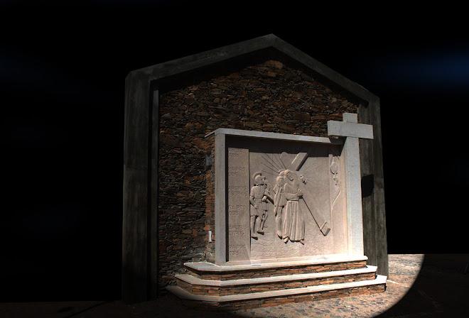 Painel em pedra da aldeia de Malcata