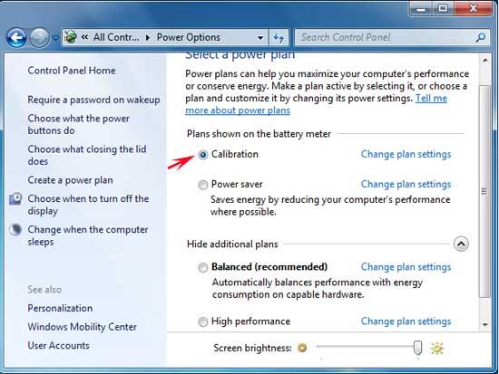 mengaktifkan profil power options