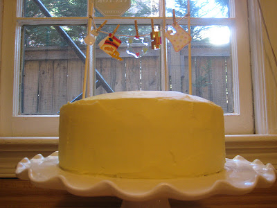 DIY Baby Shower Lemon and Blueberry Cake