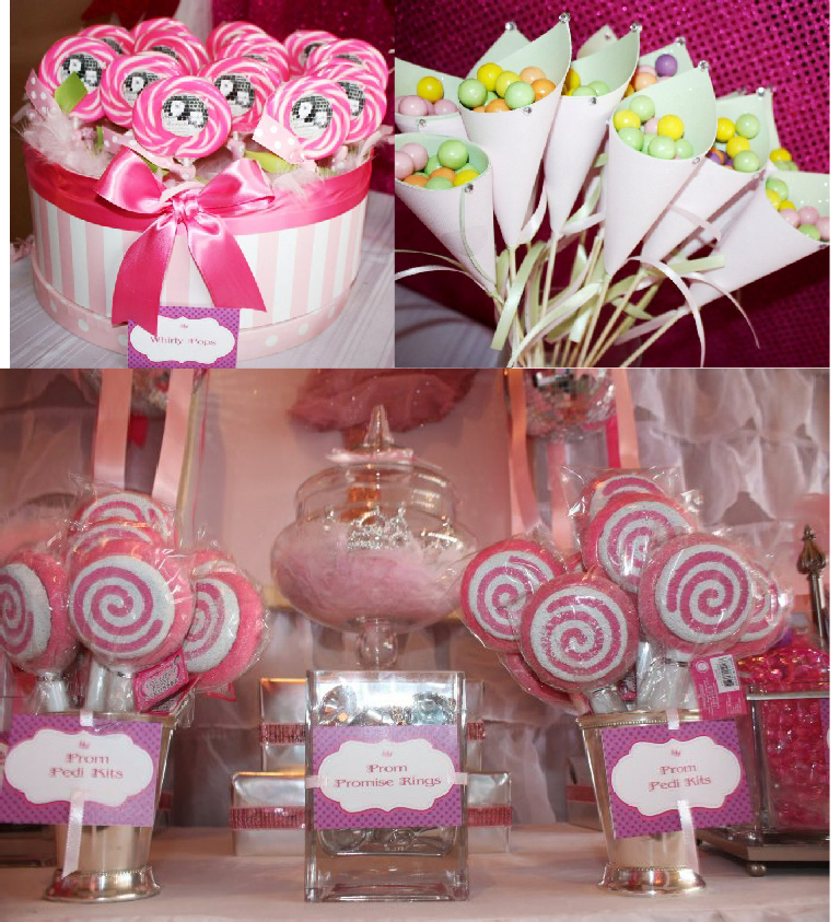 A pink 7th birthday enchanted prom party party ideas for Decoration ideas 7th birthday party