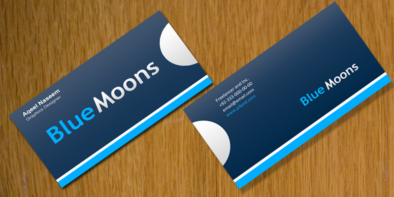 psd graphics blue moons business card psd free