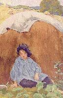 Pintura O garoto azul, de Florance Choate (1919)