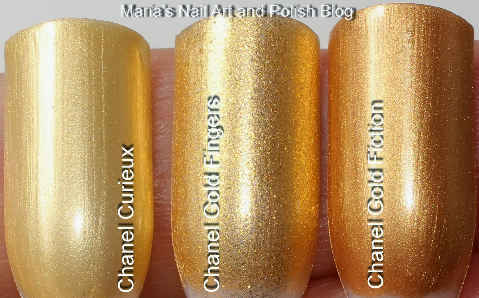 marias nail art and polish blog: chanel gold fingers - swatches