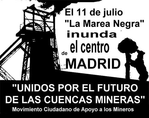 Democracia real YA! con las marchas mineras