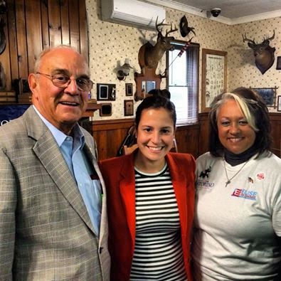 Elise Stefanik With State Conservative Chair Mike Long and Fulton Country Chair Sue McNeil