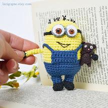 Minion amigurumi crochet pattern