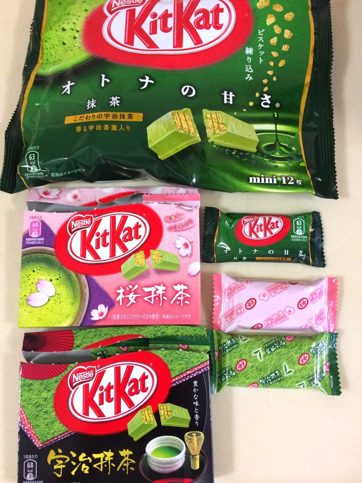 japanese matcha snack sweets japan kitkat otonano amasa sakura green tea