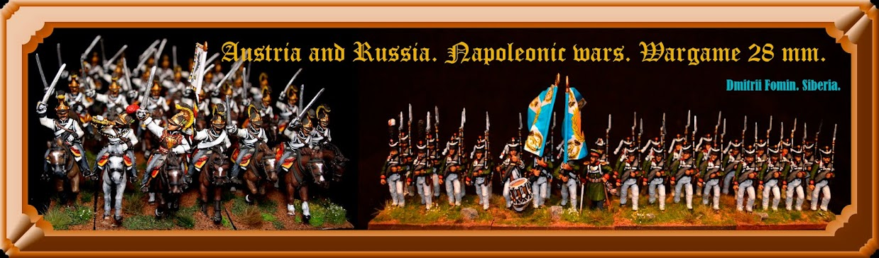 Austria and Russia - Napoleonic wars. Wargame 28mm,