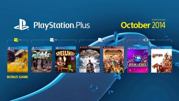 نزول ألعاب شهر أكتوبر playstation plus