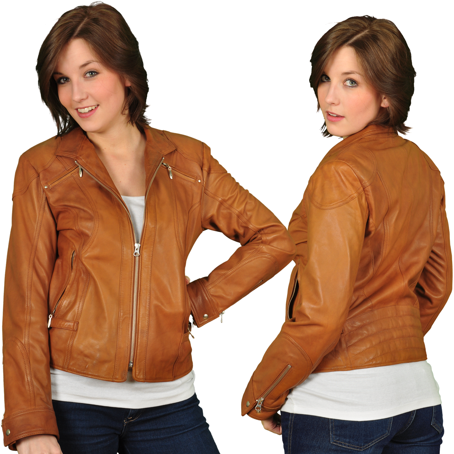 Light Brown Leather Jacket Women Brown Leather Jacket Outfit ...
