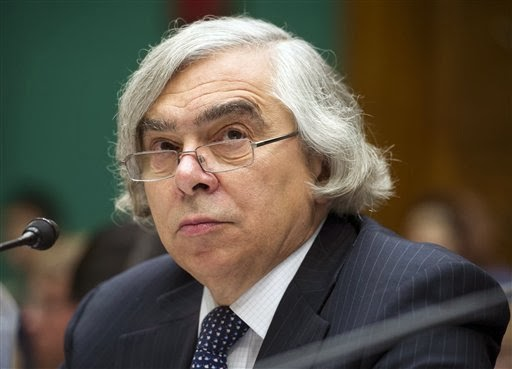 In this Sept. 18, 2013 file photo, Energy Secretary Ernest Moniz testifies on Capitol Hill in Washington. The Energy Department is poised to approve $6.5 billion in lending for two nuclear reactors under construction in Georgia. Energy Secretary Ernest Moniz is expected to announce the deal at a speech in Washington on Wednesday, a day before he visits the $14 billion Vogtle nuclear plant being built by Southern Co. and several partners about 30 miles southeast of Augusta. (Credit: Cliff Owen — AP Photo) Click to enlarge.