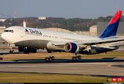 Um avião da Delta Airlines que saiu do Rio de Janeiro nesta terçafeira (5) . (delta airlines boeing )