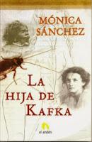 """Portada de """"La hija de Kafka"""", de Mónica Sánchez"""
