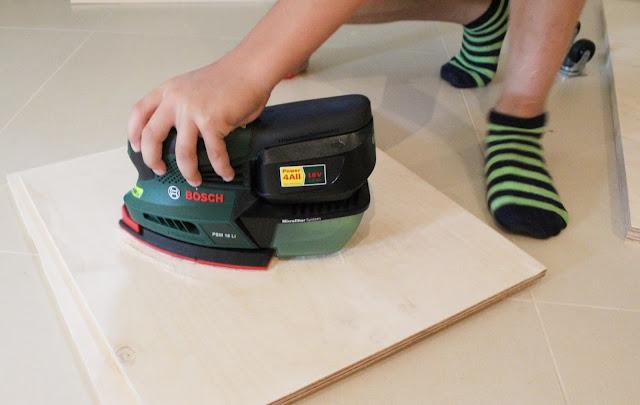 bosch linia zielona blog projekty DIY,blog DIy majsterkowanie wnętrza,inspiracje Bosch DIy,szczecin blogerka wnętrzarska,sklejka co z niej zrobić pomysły zrób to sam,szlifieka akumulatorowa bosch,ladies designs