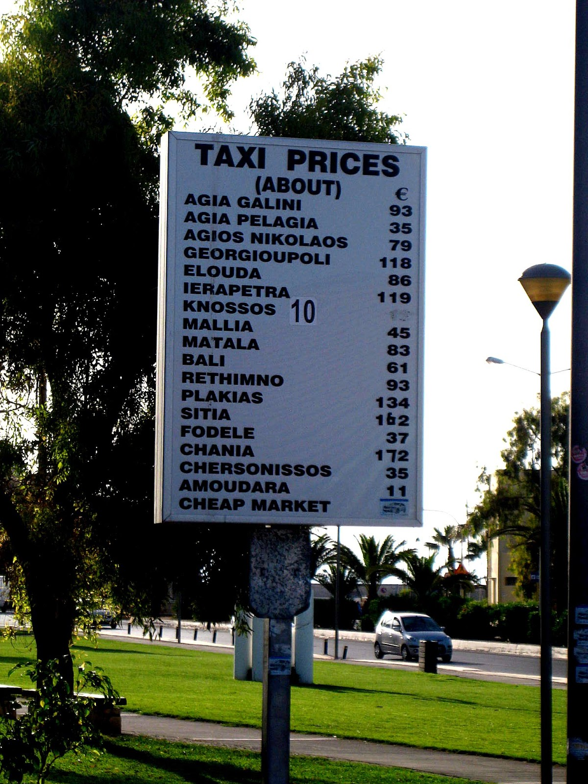 Cene taxi usluga - Iraklion