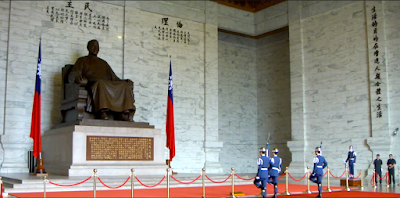 Changing Guards Ceremony at Chiang Kai Shek Memorial Hall Taipei
