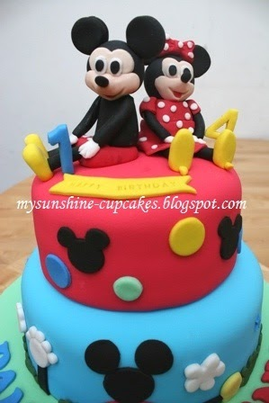 Mysunshine Cake 2 Tier Mickey Amp Minnie Mouse Cake
