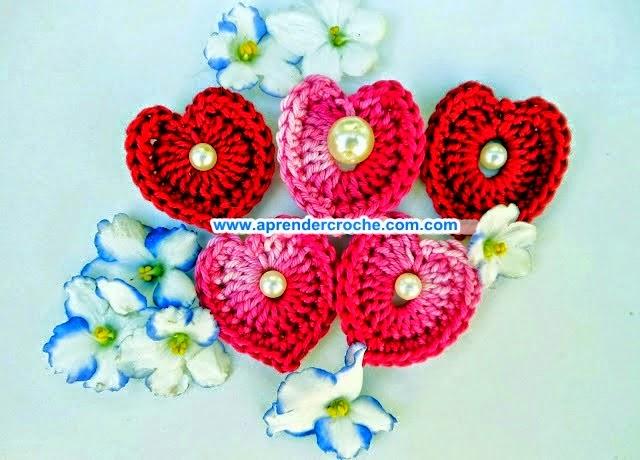 aprender croche coração majestade imperrador biju mesclado perolado edinir-croche blog dvd video aulas loja curso de croche frete gratis