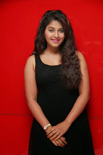 Actress Anjali Latest  Pictures in Short Dress at Kayal Movie Audio Launch  15