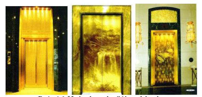 Merkezden açılan iki kanatlı kapılar