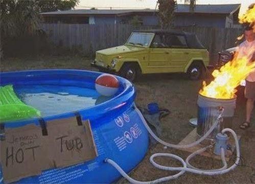 Une piscine chauffée pour l'hivers, système simple et efficace