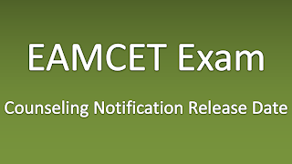 EAMCET Counseling Notification Final Release Date