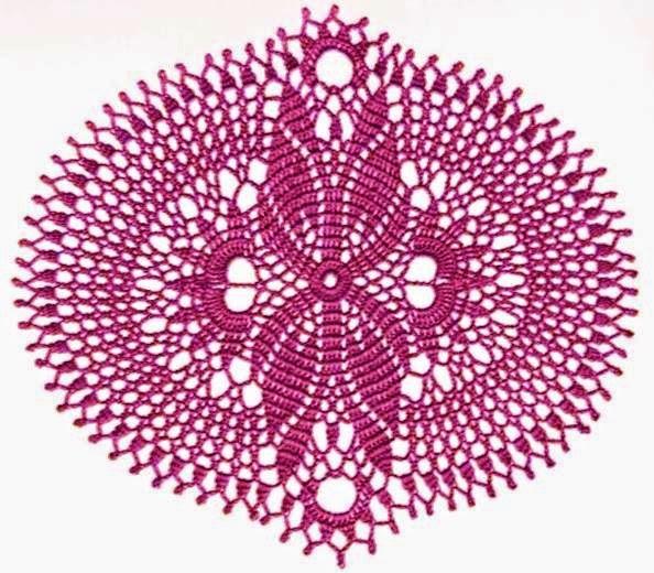 Carpeta ganchillo forma oval