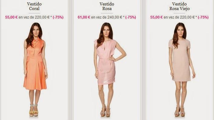 Ejemplos de vestidos en oferta de Tara Jarmon