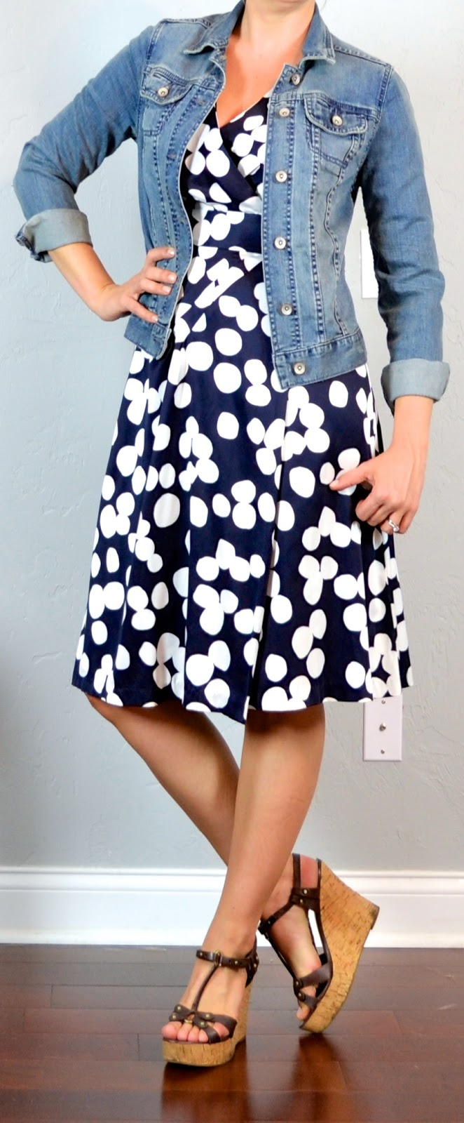 Outfit Posts Outfit Post Polka-dot Dress Jean Jacket ...