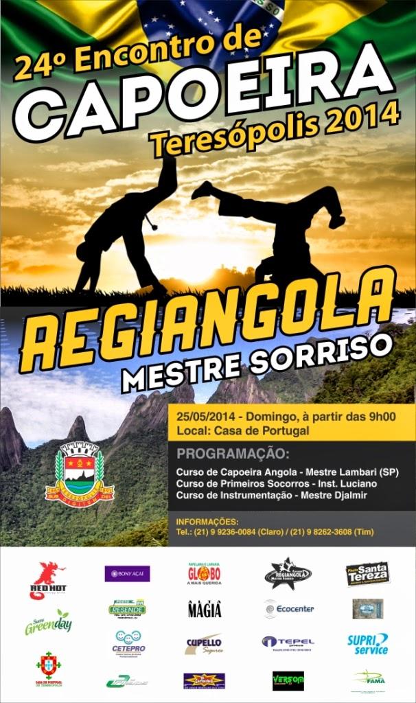 24º Encontro de Capoeira Regiangola será realizado dia 25 de maio em Teresópolis