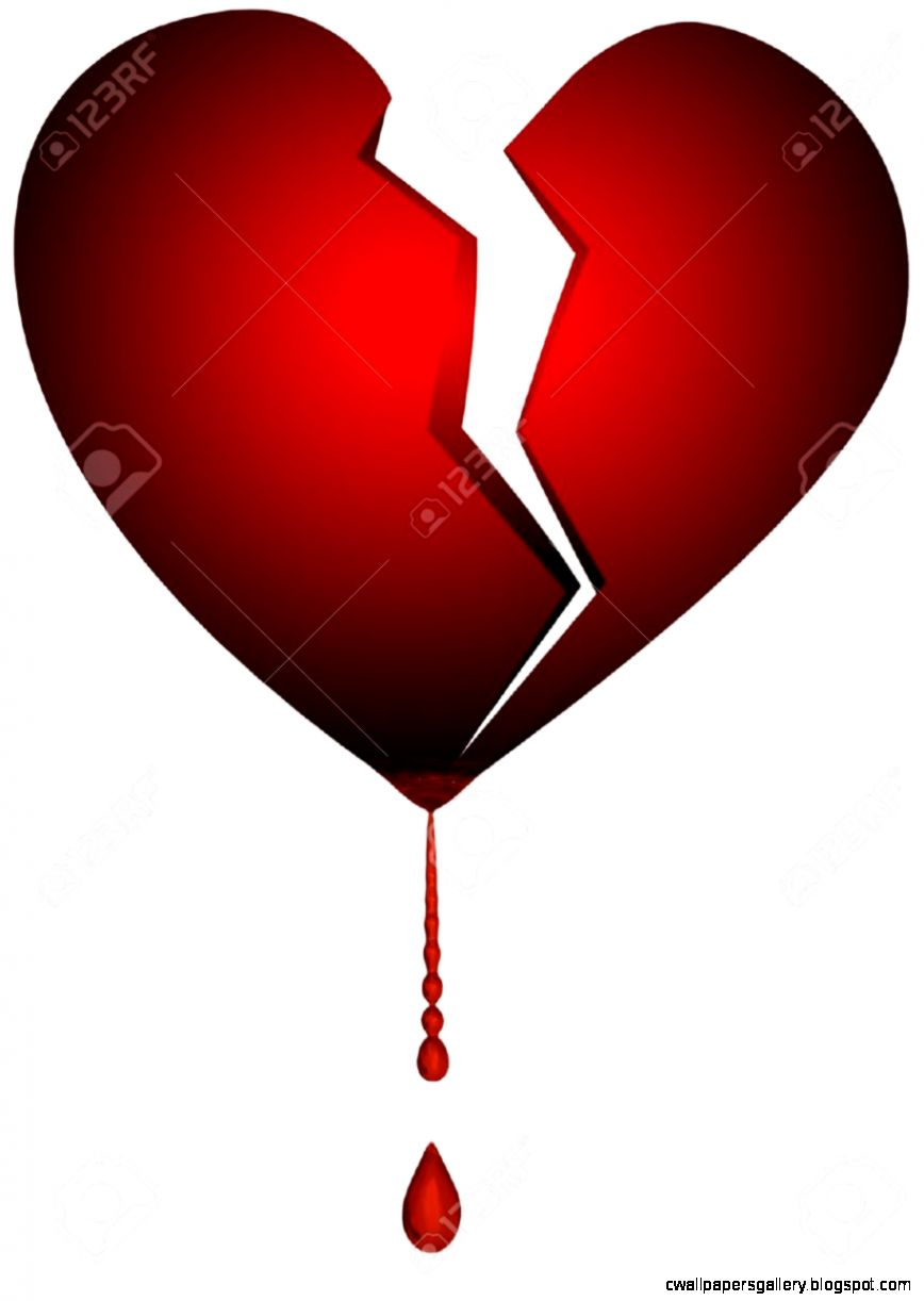 An Isolated Illustration Of A Broken Heart Stock Photo Picture