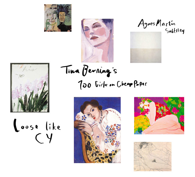 cy twombly, basquiat, tina berning, walasse ting, matisse art inspiration collage