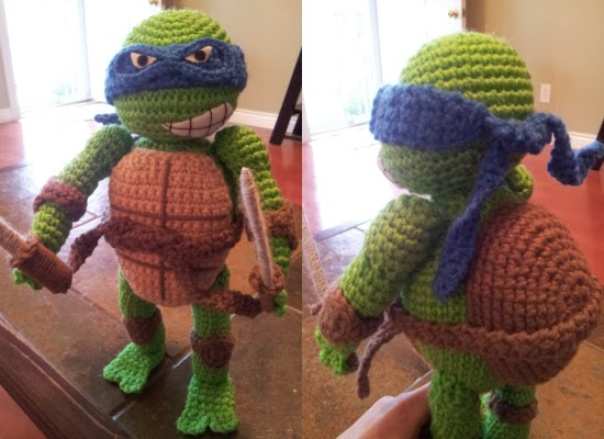 Olaf Amigurumi Crochet Pattern : animal-friendly eating: crochet ninja turtle